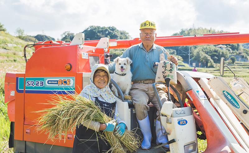 淡路島の農家 藤田さんが育てたお米を使っています。